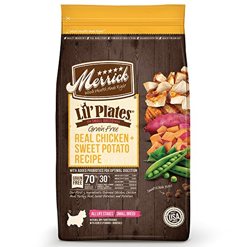 Merrick Lil Plates Grain Free  Real Chicken + Sweet Potato Recipe Dry Dog Food, 20Lb