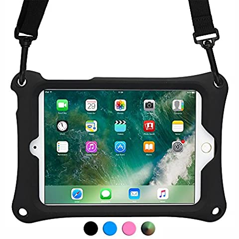Apple iPad Mini 4 3 2 1 case, [Hand & Shoulder Strap Rugged Case] COOPER (Mano Regolabile Strap)