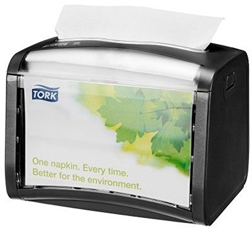 Tork 65 SCA Xpres snap Signature Napkin Dispenser 623200, Black, 8 x 6.5 x 6.5 inches,