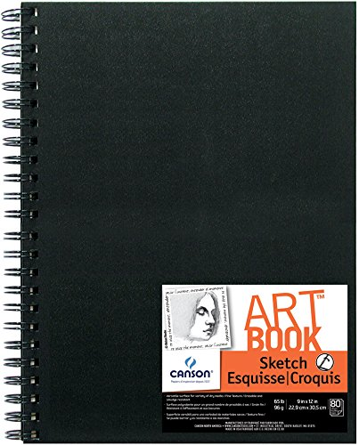 (Canson Artist Series Sketch Book Paper Pad, for Pencil and Charcoal, Acid Free, Wire Bound, 65 Pound, 9 x 12 Inch, 80 Sheets)