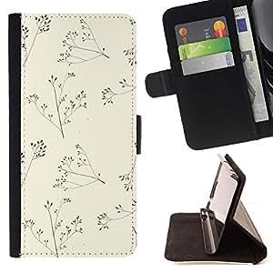 For Sony Xperia Z5 Compact Z5 Mini (Not for Normal Z5) Case , Beige minimalista naturaleza Verano- la tarjeta de Crédito Slots PU Funda de cuero Monedero caso cubierta de piel