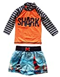eKooBee Baby Little Boys Rash Guard Set Swimwear Long Sleeve Swimsuit UP50+