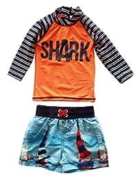 Fashion Baby Baby Boys Rash Guard Set Swimwear Long Sleeve Swimsuit UP50+