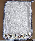 Asciugamano Bambino Asilo cm 35x52. In spugna italiana Cotone 100%. Con asola per essere appeso, con balza Gufetti applicata
