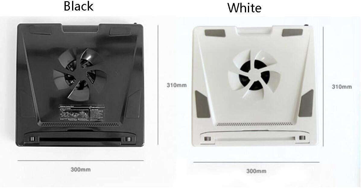 Laptop Cooler Lifting Bracket USB Expansion Bracket Cervical Vertebral Support Ultra-Thin Portable Color : White