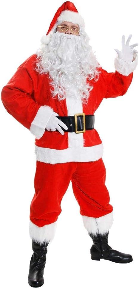 ILOVEFANCYDRESS Disfraz de Papá Noel para adulto (10 piezas ...