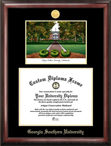Georgia Southern University Diploma Frame with Limited Edition Lithograph