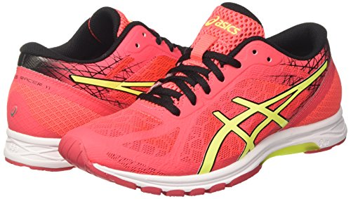 Zapatillas Mujer Black Yellow Entrenamiento Gel Pink DS Asics Racer Diva 11 Safety Rosa de para 8IaSqTx