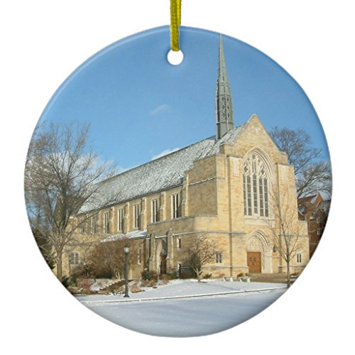 Zazzle Harbison Chapel in Winter At Grove City College Metal Ornament - Grove City Stores In
