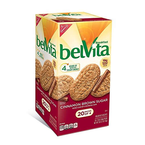 belVita Brown Sugar Cinnamon Biscuits (1.76 oz. per pk., 20 pks.) - Day Sugar Cookies