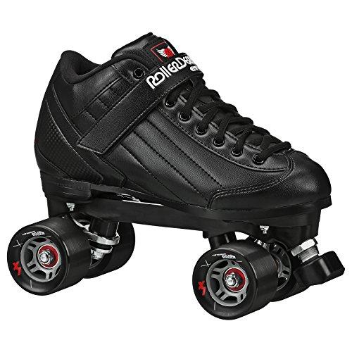 Roller Derby Stomp Factor 5 Black Quad Skates ColorBlack Size