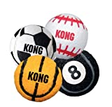 KONG 3-Pack Sport Balls Dog Toy, Medium, Assorted, My Pet Supplies