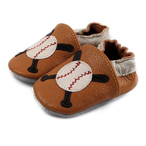Bébé nbsp;– Baseball Free Souple Pour Cuir Fisher Freefisher nbsp;chaussures En Antidérapante Semelle qP8Eng