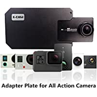 X-CAM Adapter Switch Mount Plate for DJI OSMO Mobile Gimbal Zhiyun Smooth Handheld Smartphone Gimbal Accessories metal clamp clip for GoPro Hero 5/4/3 xiaoyi sj4000 Camera