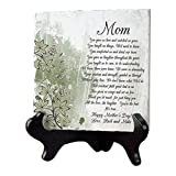 "Best Edge Mom Plaques - GiftsForYouNow Personalized Mom Poem Tumbled Stone Plaque, 6"" Review"