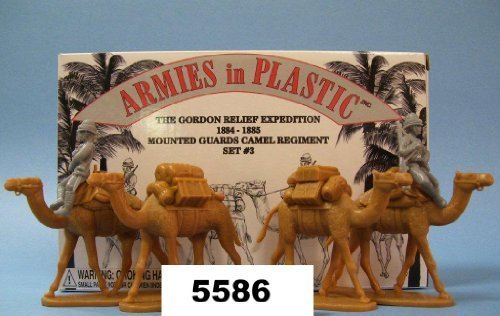 Egypt and Sudan 1:32 Scale 6 piece set of 54mm Plastic Army Men Figures Gordon Relief Expedition Camel Corps Mounted Guard Set #3