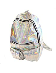 LABANCA Girls Holographic Bling Glitter School Travel Backpack Casual Daypack