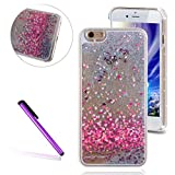 4S Painted love Case iPhone 4 Liquid Case EMAXELER Fashion Creative Design Luxury Bling Glitter Sparkle Hybrid Bumper Case with Liquid Infused with Glitter and Stars for iPhone 4S/4 Painted love