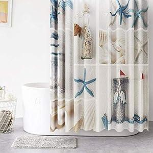 51Bsn2euRML._SS300_ Beach Shower Curtains & Nautical Shower Curtains