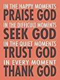 Pink Petunia Art Praise God 12x16 Inspirational Poster Christian Art Print