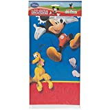 Unique Plastic Mickey Mouse Table Cover, 84-Inch by 54-Inch