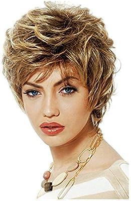 Creativo Moda pelucas de pelo corto para mujeres pelucas con gorra ...