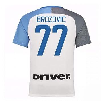 huge discount 8fb88 ac696 2017-18 Inter Milan Away Shirt (Brozovic 77): Amazon.co.uk ...