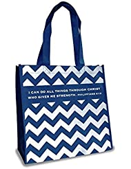 Chevron Do All Thing Philippians 4 13 Reusable 12 X 12 Eco Friendly Tote Bag Pack Of 12