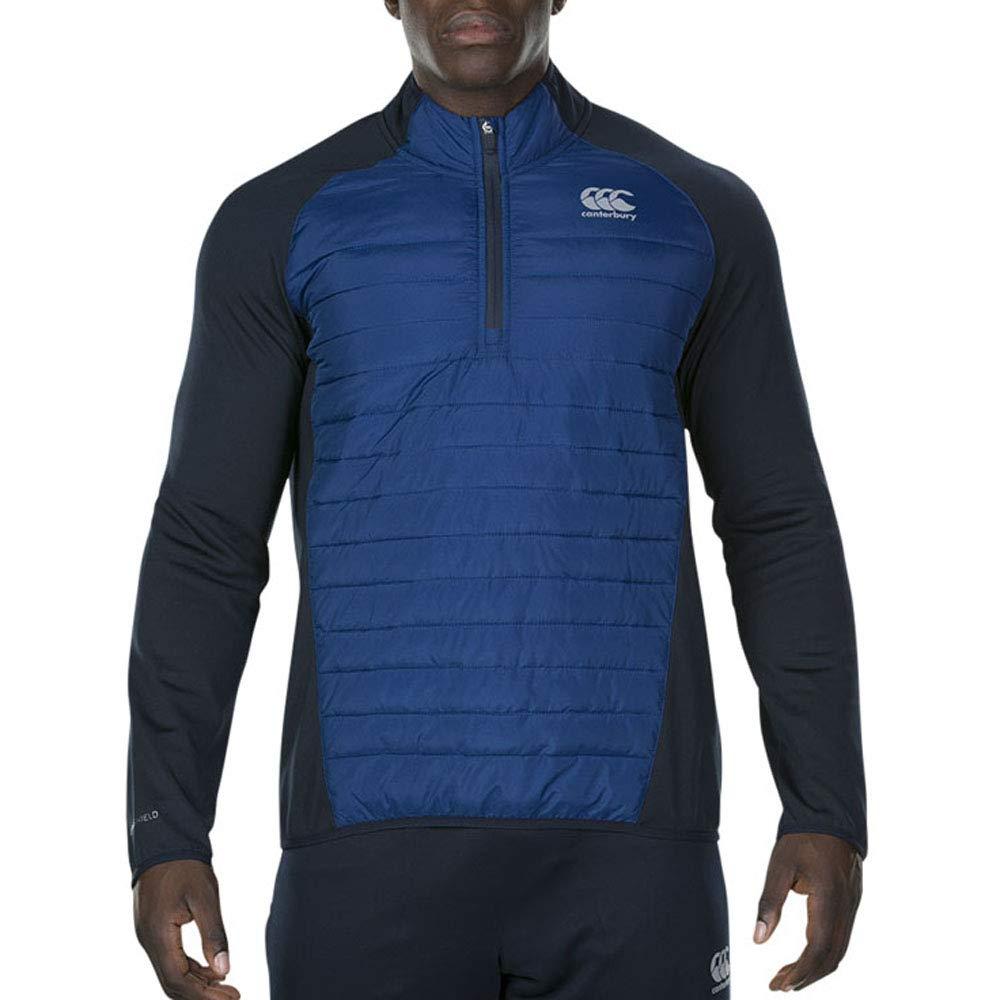 Canterbury 2018 Vaposhieldハイブリッド¼ ZipスポーツTop Mens Fitnessプルオーバー L ブルー B078WXQ93M