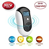 Pest Control Ultrasonic Repeller, Plug in, Indoor Outdoor Electronic Control Rodent, Mosquitoes, Mice, Ants, Rats, Roaches,Spiders, Bugs, Flies, Eco-Friendly, NO Chemicals, Non-Toxic Human & Pet Saf