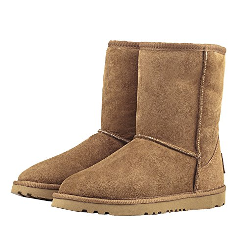 Calf Boots Boots D9125 Shenduo Women's Snow Chestnut Resistant Water Classic Mid wY4qpYt
