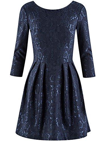Robe oodji Femme Bleu Ultra 7900n Ajuste en Maille EE1qBUn