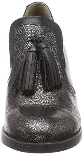 Femme black Fly Fermé Bout Escarpins anthracitesilver Noir Seri374fly 004 London qvwqA1O