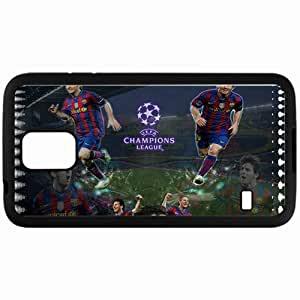 Personalized Samsung S5 Cell phone Case/Cover Skin Lionel Messi Lionel Messi FC Barcelona Football Black