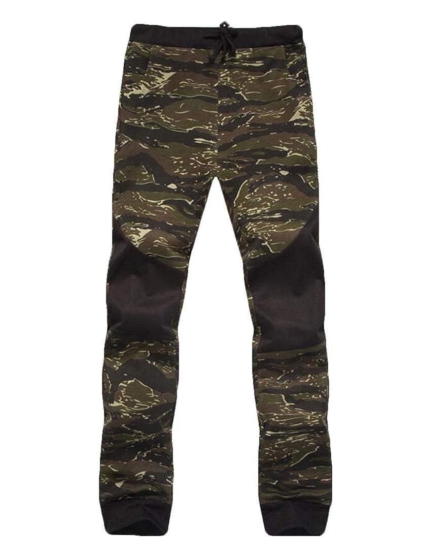 WSPLYSPJY Men Fashion Cotton Camo Regular Fit Joggers Pants Trousers