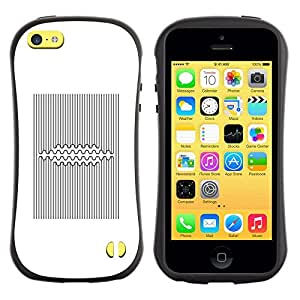 Fuerte Suave TPU GEL Caso Carcasa de Protección Funda para Apple Iphone 5C / Business Style Pattern Lines Black White Viking
