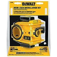 Kit de instalación de cerradura de puerta bimetálica DEWALT D180004
