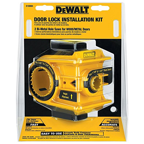 - DEWALT D180004 Bi-Metal Door Lock Installation Kit