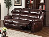 GTU Furniture Traditional Brown Pu Leather Reclining Sofa, Loveseat, Recliner (Sofa)