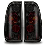 Winjet WJ20-0016-05 Altezza Tail Lights (Pair)- Black/Smoke