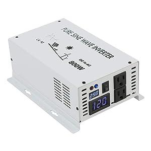 WZRELB Pure Sine Wave 800W Home Power Generator Inverter Off Grid DC to AC 24V 120V Converter