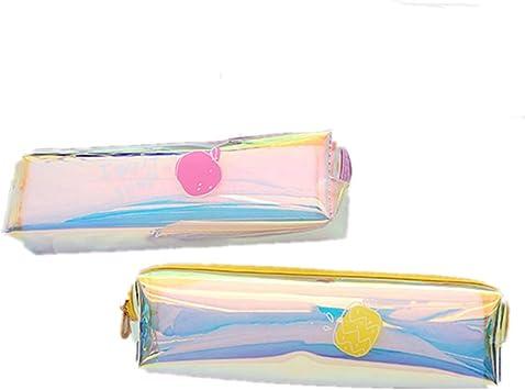 Fully 2 X Bolsa de cosméticos con Cremallera Organizador de Maquillaje Estuche de lápices para la Oficina de la Escuela: Amazon.es: Juguetes y juegos