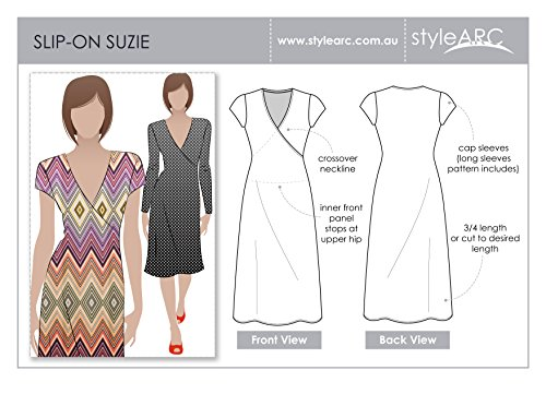 Style Arc Sewing Pattern - Slip on Suzie Dress - Sizes 18-30 - Click for Other Sizes Available ()