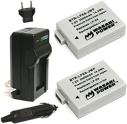 Amazon.com: Wasabi, baterías y cargador para Canon LP ...