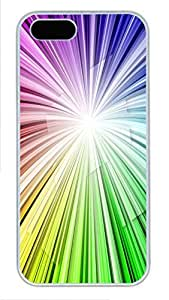 iPhone 5 5S Case Patterns Color Burst PC Custom iPhone 5 5S Case Cover White