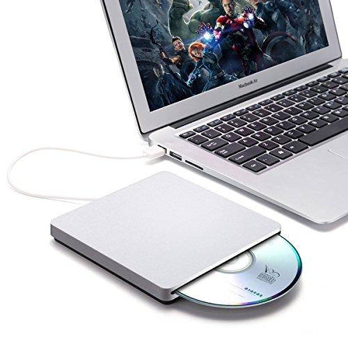 External CD DVD Drive,ONCHOICE USB 2.0 External Disc Optical Drive, Slim CD/DVD-RW Writer Player Burner for Windows OS, Laptop Desktop PC by ONCHOICE (Image #8)