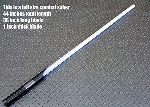 038 LGT USA Grey Custom RBG Combat Lightsaber with Sound Light Saber, Color Changing, Dueling, Metal Hilt, FX