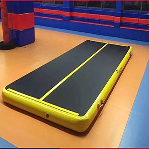 ZGUO 20 FT Inflatable Gym Mat Air Track Floor Tumbling Gymnastic Mats for Home Use Cheerleading,Beach,Park(110v)