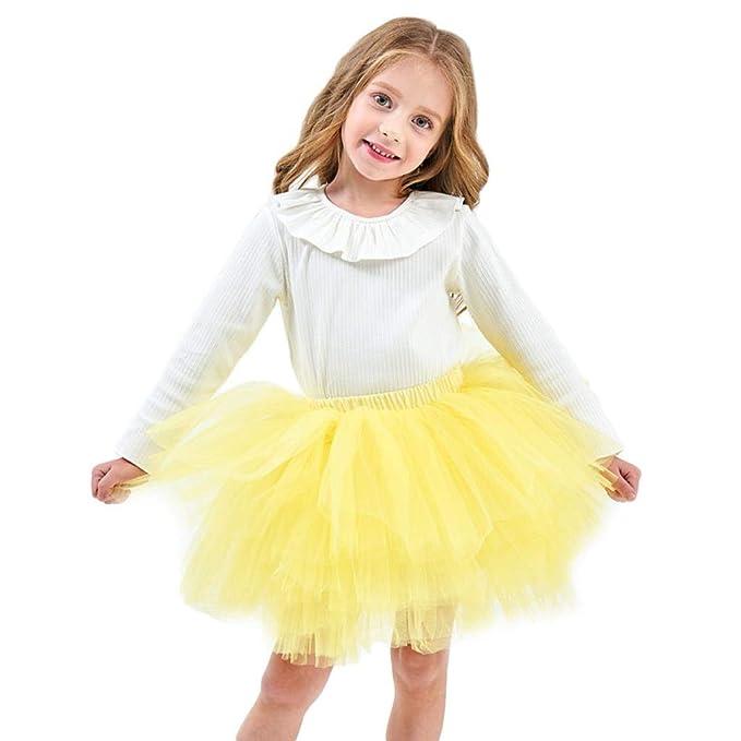 60d686ca78 Bwiv Faldas de Tul Gasa Faldas de Ballet Vestido Fiesta Princesa de Algodón  Enaguas Cortas para Niñas Talla S- L  Amazon.es  Ropa y accesorios