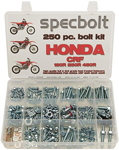 - Specbolt Fasteners 250pc Maintenance Restoration OE Spec Motorcycle Bolt Kit for Honda CRF150 CRF250 CRF250 MX Dirtbike CRF 150 250 450